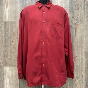 Tommy Bahama 100% Silk Button Down Shirt.